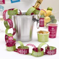 Keep Calm And Party On Paper Chains - Pink & Lime (50)